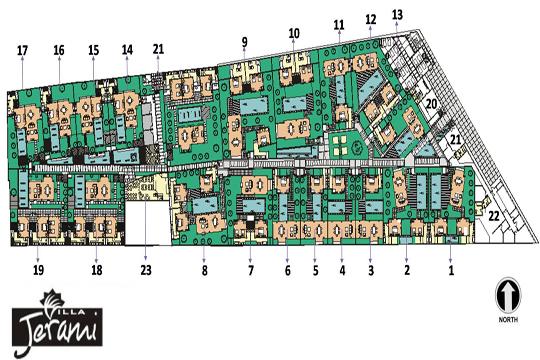 ヴィラ ジェラミ 敷地マップ
