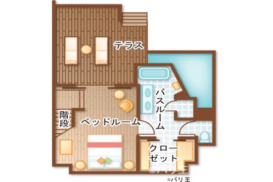 フォーシーズンズ リゾート バリ アット サヤン デュプレックススイート1階
