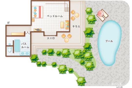 ロイヤルピタマハ 2ベッドルームデラックスプールヴィラ1階