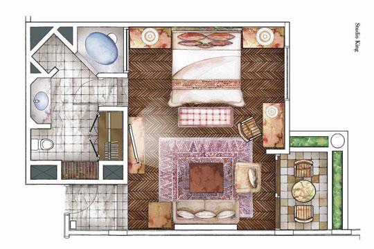 ザ・ラグーナ・ラグジュリーコレクションリゾート&スパ・ヌサドゥア・バリ デラックススタジオ
